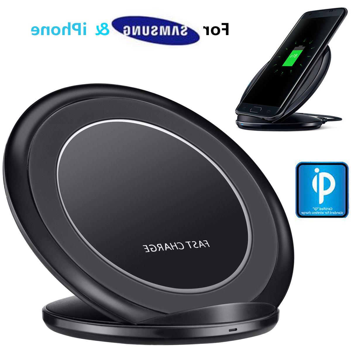 Universal Fast Qi Wireless Charger Stand Dock For Cell Phone