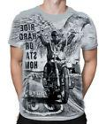 RIDE HARD CHOPPERS - Mens Grey T-Shirt Wrap / NEXT WORKING D