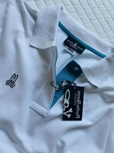 Psycho White Teal Shirt Size NWT $98