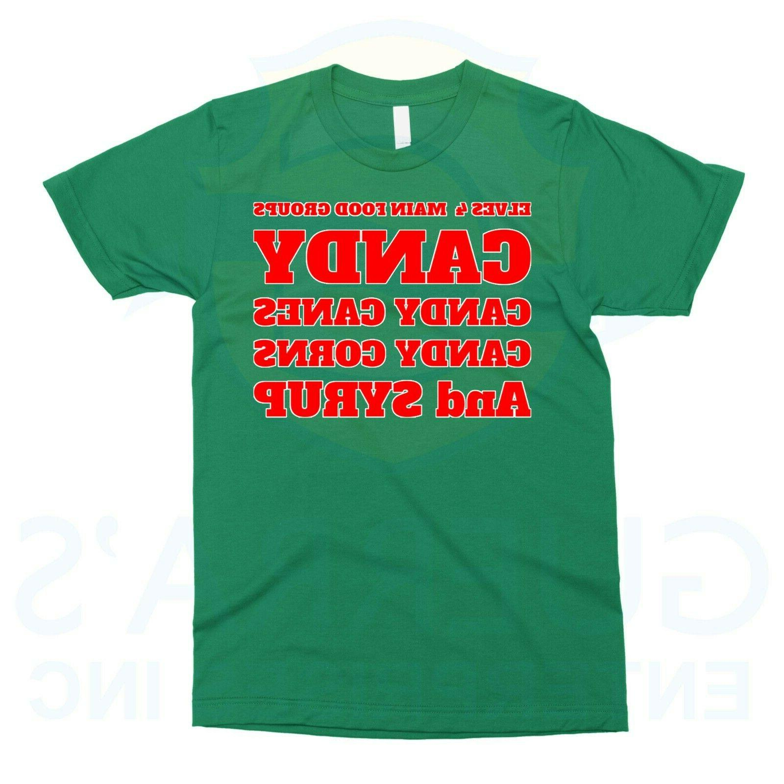T-Shirt Elves Four Food Categories Sugars Cool Gift Present