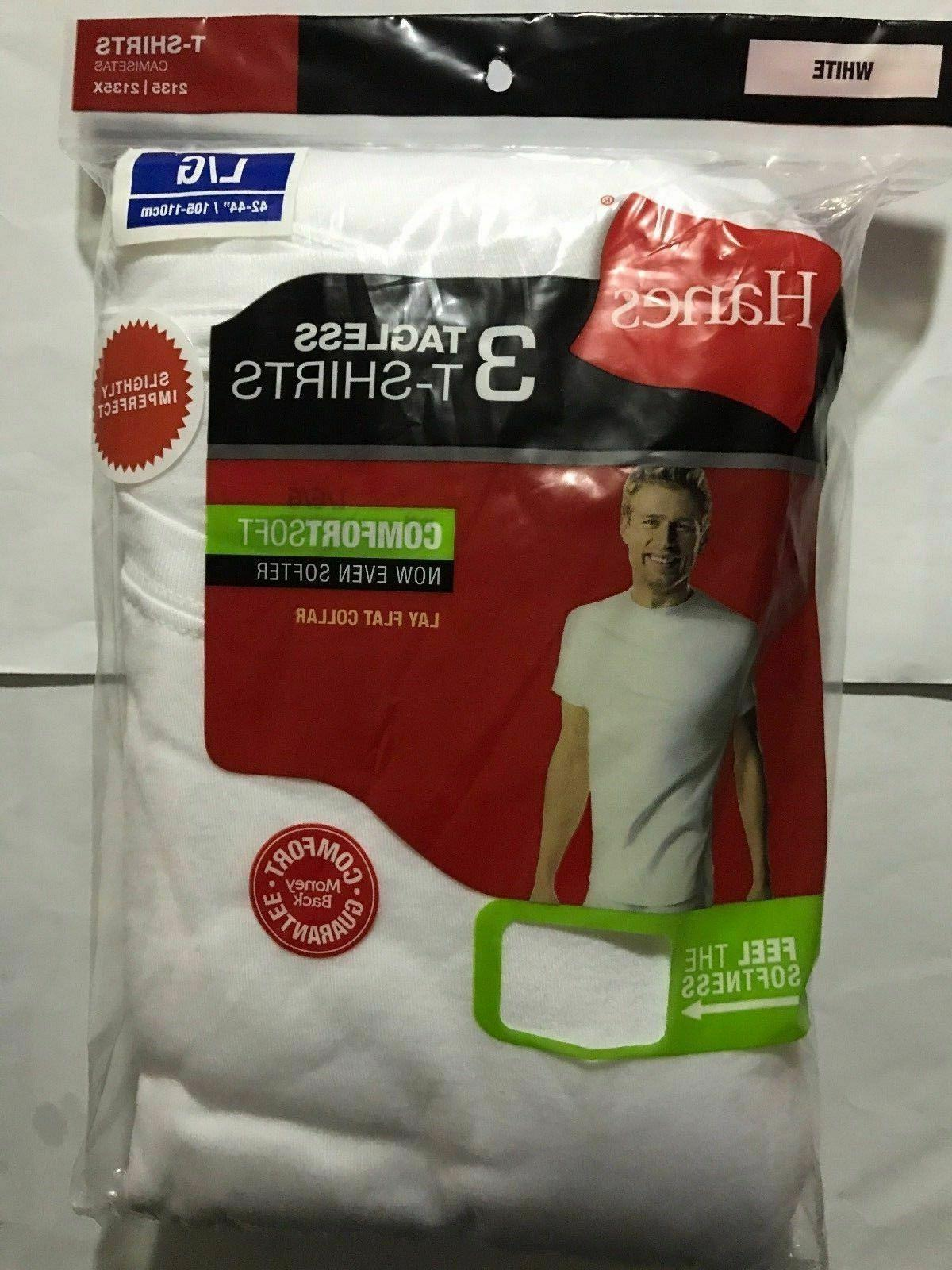 Hanes t shirt White Undershirt 6 Pack Comfort Soft Tagless M