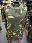 T-SHIRT WOODLAND CAMOFLAGE  MENS ARMY TRU SPEC MADE IN USA M