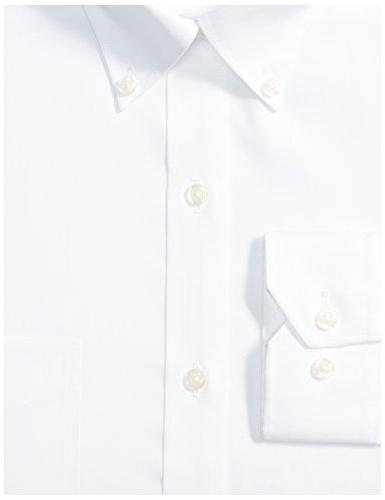 "BUTTONED DOWN Fit Button-Collar Solid Dress Shirt 17.5"" 34"""