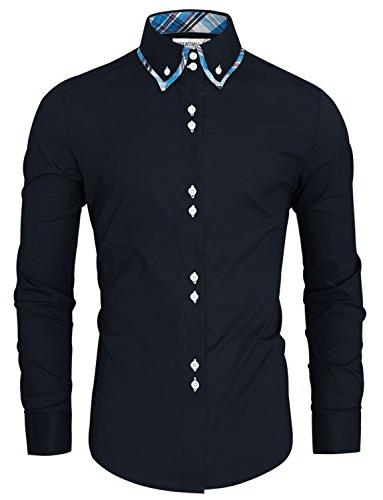 TAM Ware Button Shirt TWNMS323S-NAVY-US L