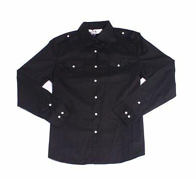 Tom's Ware NEW Deep Black Mens Size XL Button Down Long-Slee