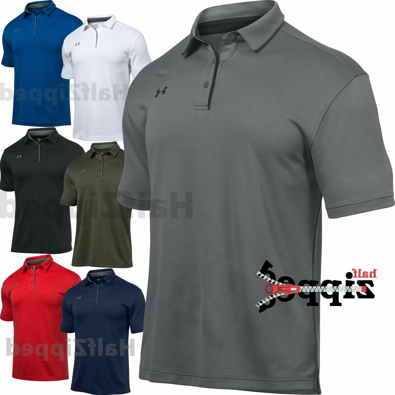 ua tech men s golf polo shirt
