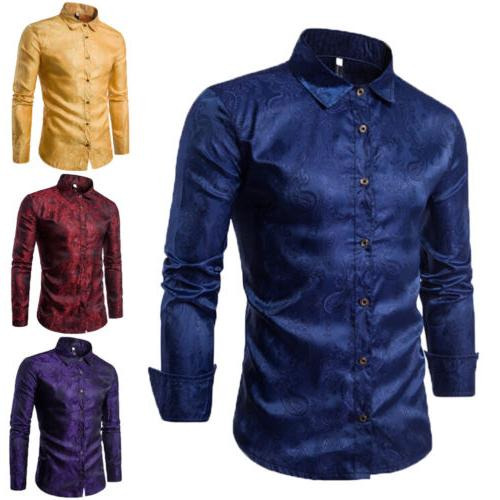 US Men Shirt Sleeve Fit Business Dress Shirts Top