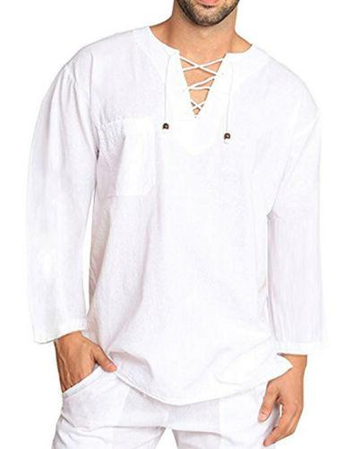US Mens T-Shirt Cotton Shirts Blouse Yoga