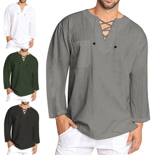 us mens baggy t shirt cotton linen
