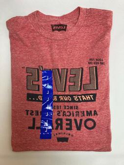 Levi's Men's Tshirt Heather Orange Salmon Snow Our Brand Bes