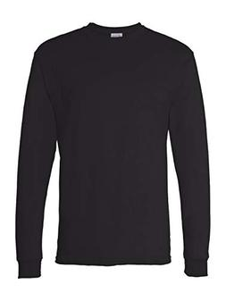 Hanes Men's 4 Pack Long Sleeve Comfortsoft T-Shirt, Black, S
