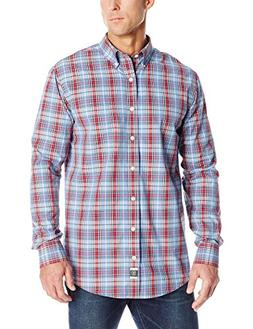 IZOD Men's Long Sleeve Medium Plaid Shetland Tartan, Riviera