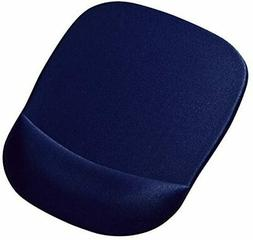 SANWA SUPPLY Memory Foam Squirrel Mouse Pad with Trest blue