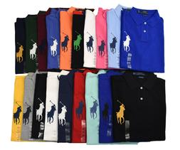 Men Polo Ralph Lauren Mesh Polo Shirt BIG PONY - S M L XL XX