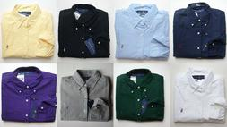 Men Polo Ralph Lauren Oxford Shirt Long Sleeve All Sizes - C