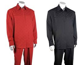 Men's 100% Polyester Two Pieces Walking suit Check, Design B