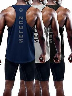 Neleus Men's 3 Pack Dry Fit Muscle Tank Workout Gym Shirt503