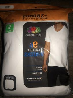 Fruit of the Loom ~ Men's 9 Pack T-Shirts White Undershirts