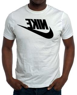 Nike Men's Athletic Wear Short Sleeve Logo Swoosh Printed Gy