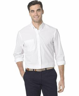 IZOD Men's Big and Tall Button Down Long Sleeve Stretch Perf