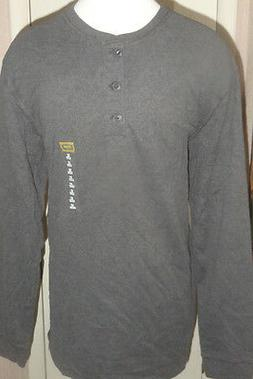 Men's Foundry Big & Tall Charcoal Gray Long Sleeve Henley To