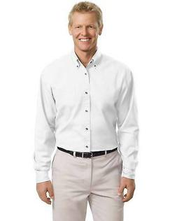 Port Authority Men's Big & Tall Long Sleeve 100% Cotton Twil