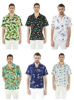 men s hawaiian shirt aloha casual shirt