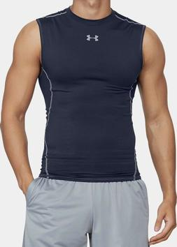 Men's HeatGear Armour Sleeveless Compression Shirt.Color:Mid