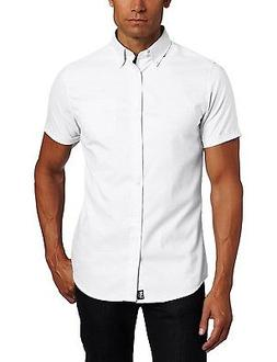 Men's Lee White Oxford Shirt Button Down Short Sleeve Unifor