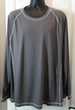 Amazon Essentials ~ Men's Long-Sleeve Shirt ~ Gray ~ Size XX