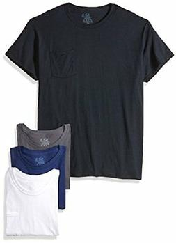 4pk Assorted colors Pocket T-Shirt - 4pack, Black/Grey, Pock