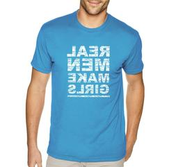 Men's Real Men Make Girls Dad Life Father's Day Crewneck T-S