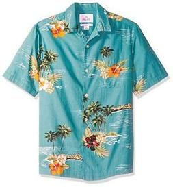 28 Palms Men's Relaxed-Fit 100% Cotton Tropical Hawaiian, Gr