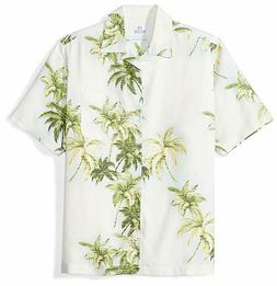 28 Palms Men's Relaxed-Fit 100% Textured Silk Tropical Hawai