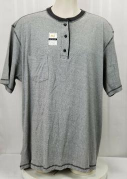Lee Men's Size 2XB Big and Tall Henley Short Sleeve Shirt So