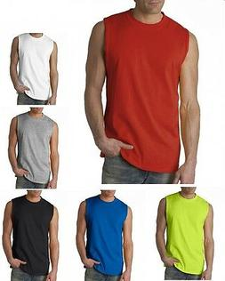 GILDAN Men's Size S-XL 2XL Ultra Cotton Sleeveless Muscle Sp