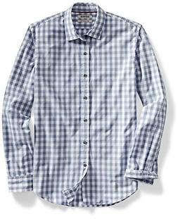 Goodthreads Men's Slim-Fit Long-Sleeve Large-Scale Gingham S