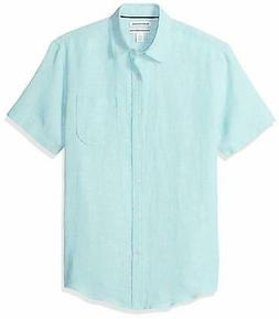 Amazon Essentials Men's Slim-Fit Short-Sleeve Linen Shirt -