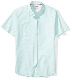 Goodthreads Men's Slim-Fit Short-Sleeve Seersucker Shirt - C