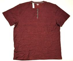 Old Navy Men's Soft-Washed Crew-Neck Henley Shirt, Red, 3XL