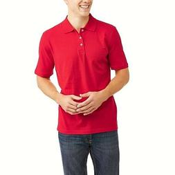 George Men's Solid Jersey Polo Brilliant Red XL Free 2-3 Day