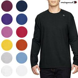 Champion Men's T390 Jersey Crew Neck Long Sleeve Logo T-Shir