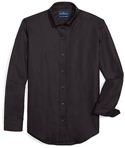 BUTTONED DOWN Men's Tailored Fit Supima Cotton Button-Collar
