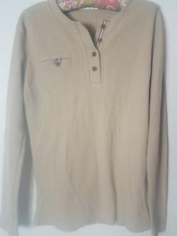 H2H Men's  Thermal Waffle Knit Long Sleeve Shirt Size M
