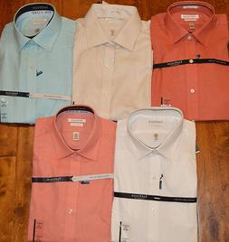 Men's Van Heusen White Coral Ivory Long Sleeve Button Front