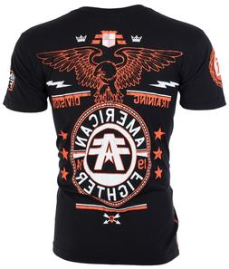 AMERICAN FIGHTER Men T-Shirt CREST OF TRUTH Athletic BLACK B