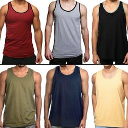 Men Tank Top Camo Sleeveless Gym A-Shirt Solid Workout Fitne
