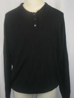 Mens Dockers 100% Acrylic Black Cable Knit Golf/Polo Sweater
