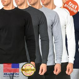 Mens 100% COTTON Medium Weight Thermal Shirts Warm Winter Lo