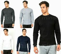 mens 100 percent cotton thermal top crew